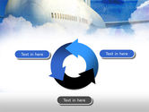 Large Aircraft PowerPoint Template#9