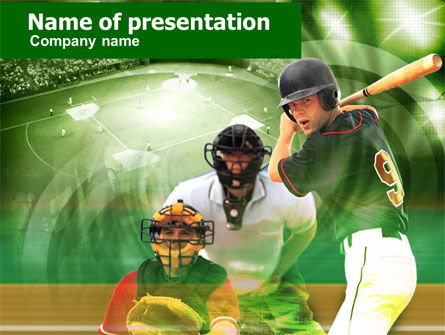 Sports: Baseball Hitter PowerPoint Template #00470