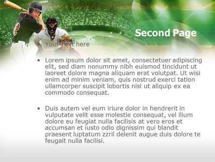 Baseball Hitter PowerPoint Template, Slide 2, 00470, Sports — PoweredTemplate.com