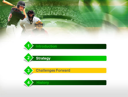 Baseball Hitter PowerPoint Template, Slide 3, 00470, Sports — PoweredTemplate.com