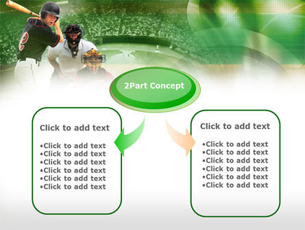 Baseball Hitter PowerPoint Template, Slide 4, 00470, Sports — PoweredTemplate.com