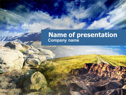 Rocky Landscape PowerPoint Template, 00471, Nature & Environment — PoweredTemplate.com