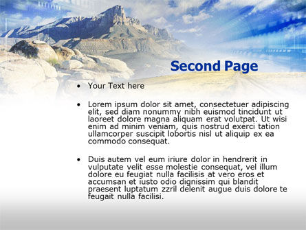 Rocky Landscape PowerPoint Template, Slide 2, 00471, Nature & Environment — PoweredTemplate.com