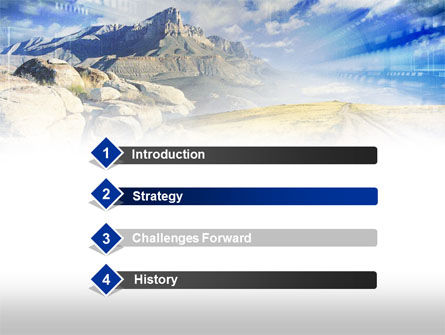 Rocky Landscape PowerPoint Template, Slide 3, 00471, Nature & Environment — PoweredTemplate.com