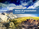Nature & Environment: Rocky Landscape PowerPoint Template #00471