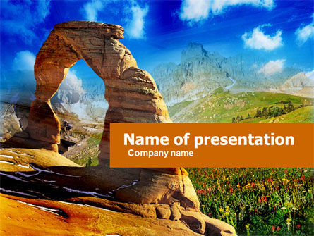 Utah National Park PowerPoint Template, 00472, Nature & Environment — PoweredTemplate.com
