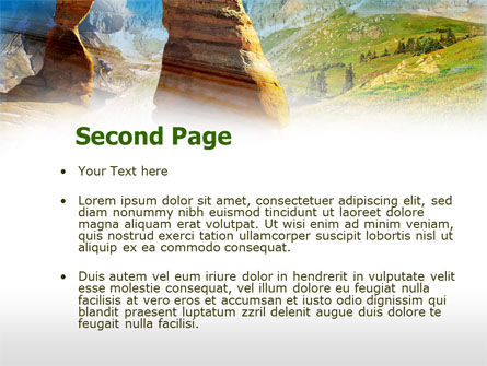 Utah National Park PowerPoint Template, Slide 2, 00472, Nature & Environment — PoweredTemplate.com