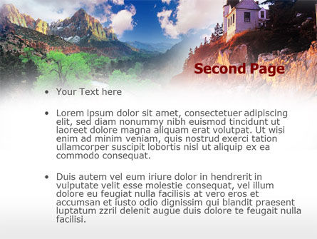 House in Mountains PowerPoint Template, Slide 2, 00473, Nature & Environment — PoweredTemplate.com