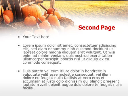 Pumpkin Field PowerPoint Template, Slide 2, 00474, Agriculture — PoweredTemplate.com