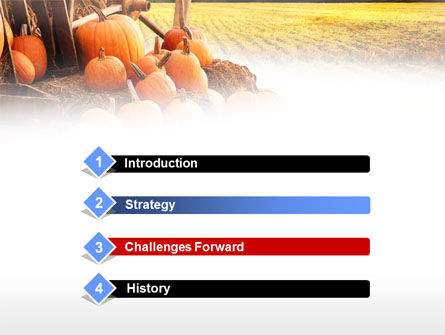 Pumpkin Field PowerPoint Template, Slide 3, 00474, Agriculture — PoweredTemplate.com