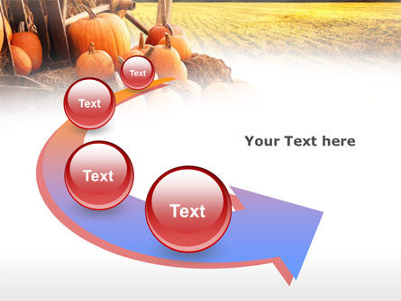 Pumpkin Field PowerPoint Template Slide 6