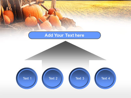 Pumpkin Field PowerPoint Template Slide 8