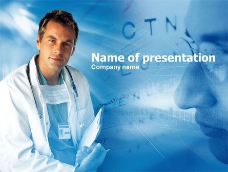 Medical: Plantilla de PowerPoint - oftalmólogo #00475