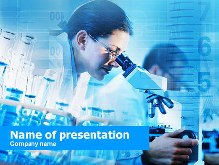 Medical: Lab Worker PowerPoint Template #00479