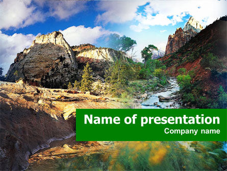 Mountain River PowerPoint Template