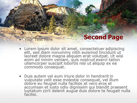 Mountain River PowerPoint Template, Slide 2, 00481, Nature & Environment — PoweredTemplate.com
