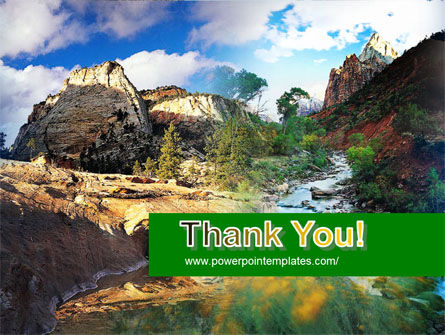 Mountain River PowerPoint Template Slide 20