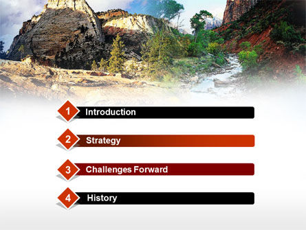 Mountain River PowerPoint Template Slide 3