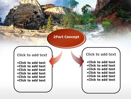 Mountain River PowerPoint Template, Slide 4, 00481, Nature & Environment — PoweredTemplate.com