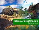 Nature & Environment: Mountain River PowerPoint Template #00481
