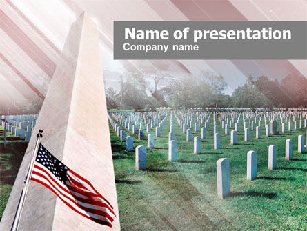 Military Cemetery PowerPoint Template, 00483, America — PoweredTemplate.com