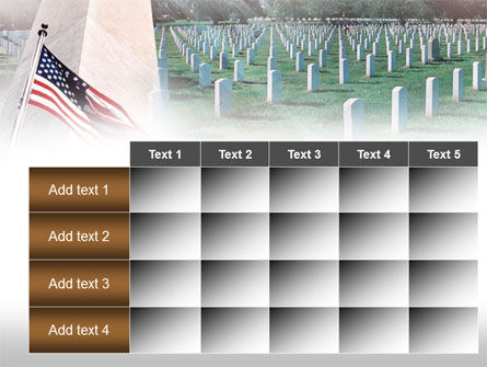 Military Cemetery PowerPoint Template Slide 15