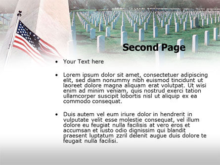 Military Cemetery PowerPoint Template, Slide 2, 00483, America — PoweredTemplate.com