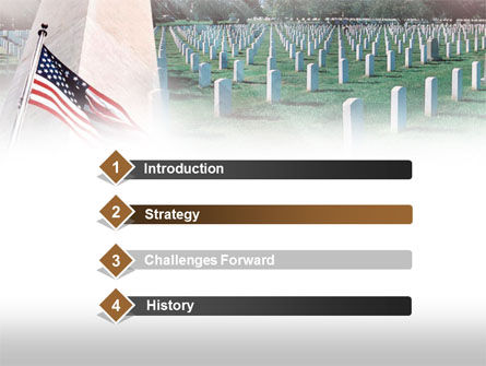 Military Cemetery PowerPoint Template, Slide 3, 00483, America — PoweredTemplate.com