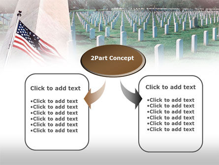 Military Cemetery PowerPoint Template, Slide 4, 00483, America — PoweredTemplate.com