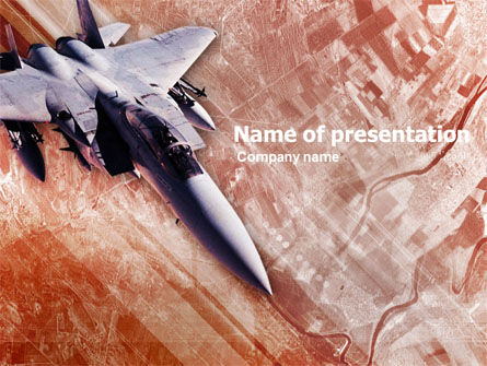 Tactical Fighter PowerPoint Template, 00484, Military — PoweredTemplate.com