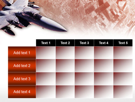 Tactical Fighter PowerPoint Template Slide 15