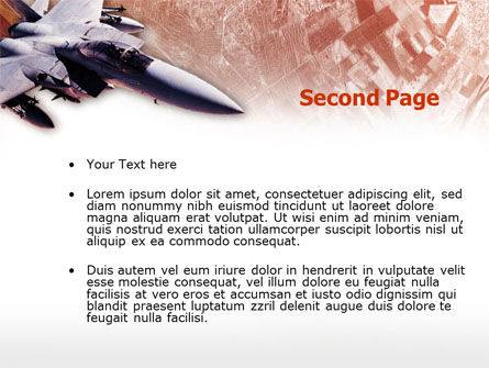 Tactical Fighter PowerPoint Template, Slide 2, 00484, Military — PoweredTemplate.com