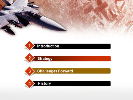 Tactical Fighter PowerPoint Template, Slide 3, 00484, Military — PoweredTemplate.com