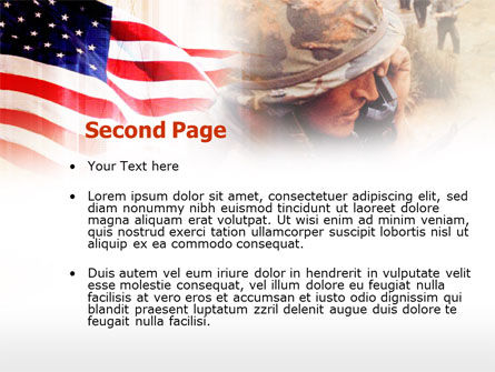 American Artillery PowerPoint Template, Slide 2, 00485, Military — PoweredTemplate.com