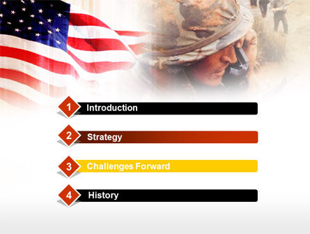 American Artillery PowerPoint Template, Slide 3, 00485, Military — PoweredTemplate.com