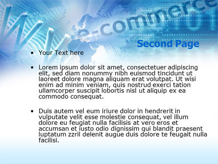E-commerce Solutions PowerPoint Template, Slide 2, 00488, Business Concepts — PoweredTemplate.com