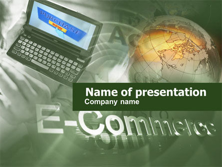 Electronic Commerce PowerPoint Template, 00489, Business — PoweredTemplate.com