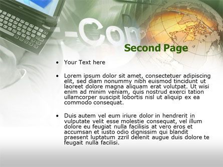 Electronic Commerce PowerPoint Template Slide 2