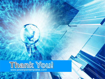 Crystal Globe In Hand PowerPoint Template Slide 20