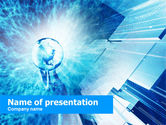 Abstract/Textures: Crystal Globe In Hand PowerPoint Template #00490