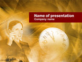 Business Concepts: Business Lady Calling PowerPoint Template #00492