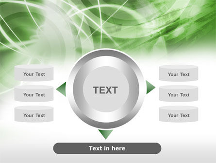 Green Lights Abstract PowerPoint Template Slide 12