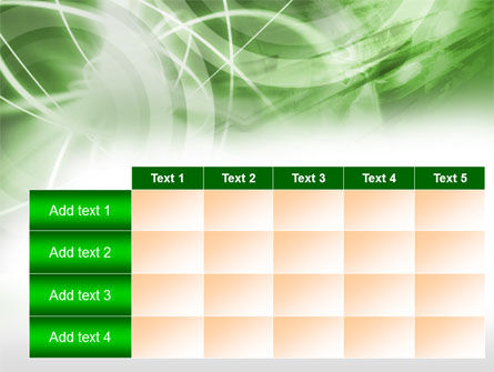 Green Lights Abstract PowerPoint Template Slide 15