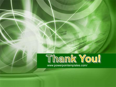 Green Lights Abstract PowerPoint Template Slide 20