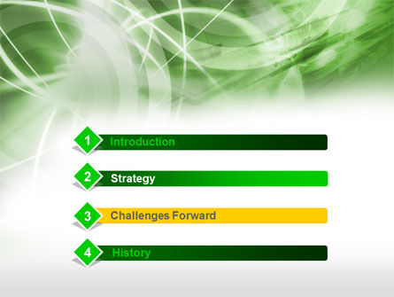 Green Lights Abstract PowerPoint Template Slide 3