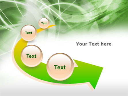 Green Lights Abstract PowerPoint Template Slide 6