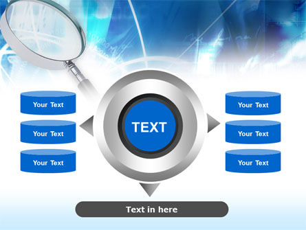 Magnifying Glass PowerPoint Template Slide 12