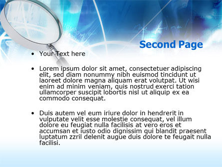 Magnifying Glass PowerPoint Template Slide 2
