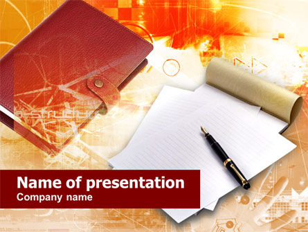 Business Stationery PowerPoint Template, 00497, Business Concepts — PoweredTemplate.com