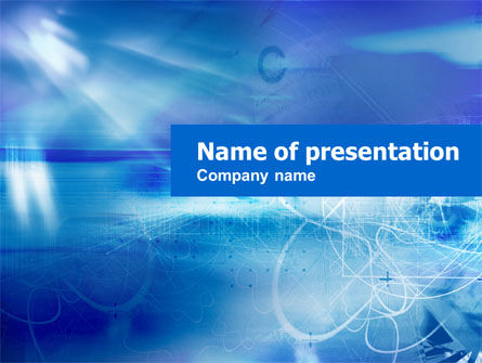 Abstract Blue Stains PowerPoint Template